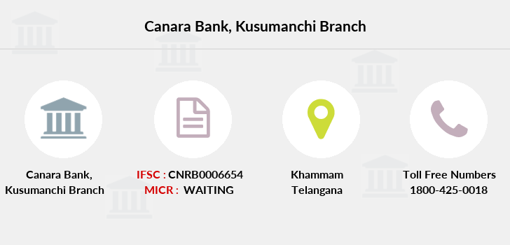 Canara-bank Kusumanchi branch