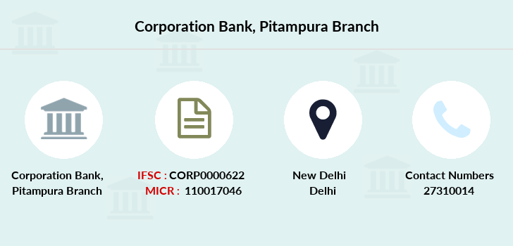 Corporation-bank Pitampura branch