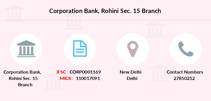 Corporation-bank Rohini-sec-15 branch