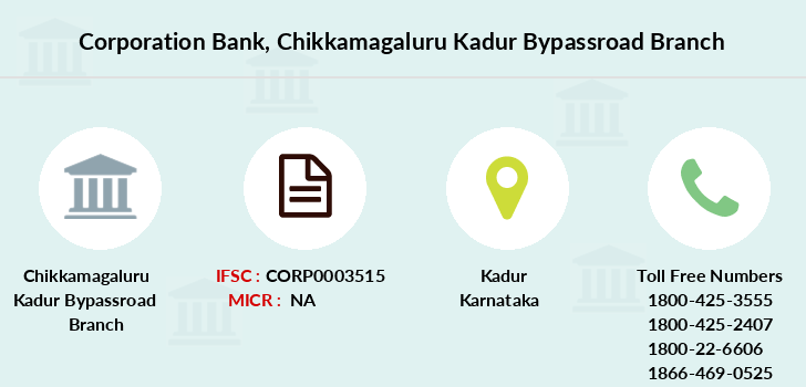 Corporation-bank Chikkamagaluru-kadur-bypassroad branch