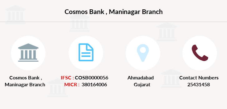 Cosmos-co-op-bank Maninagar branch