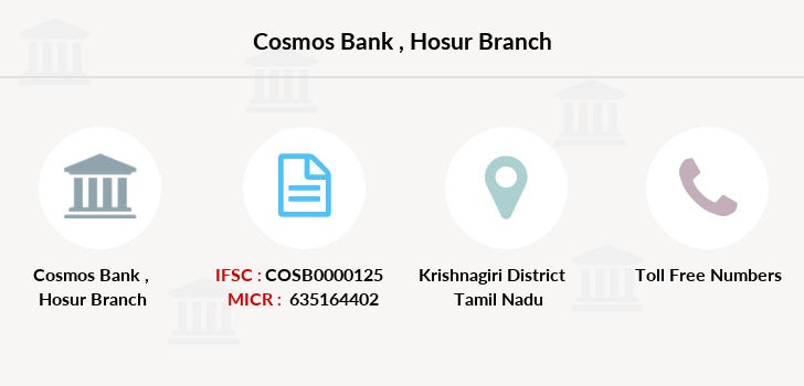 Cosmos-co-op-bank Hosur branch