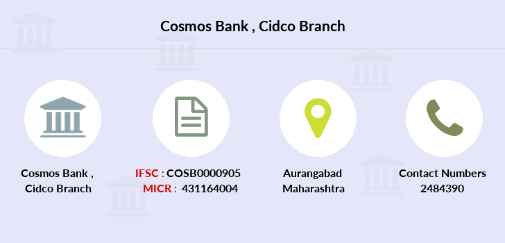 Cosmos-co-op-bank Cidco branch
