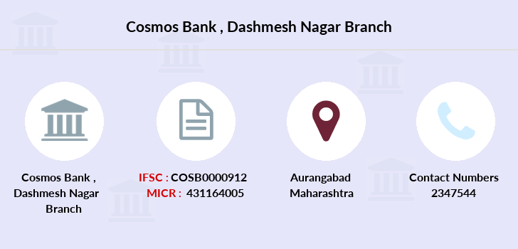 Cosmos-co-op-bank Dashmesh-nagar branch