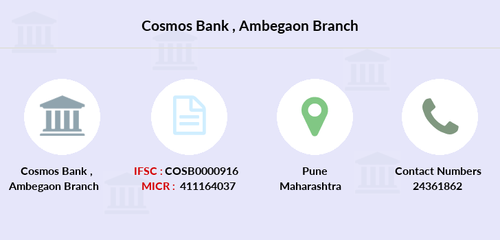 Cosmos-co-op-bank Ambegaon branch