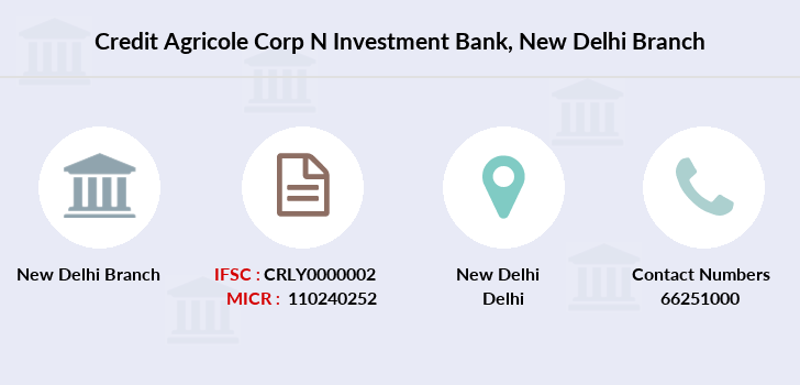 Credit-agricole-corp-n-invsmnt-bank New-delhi branch