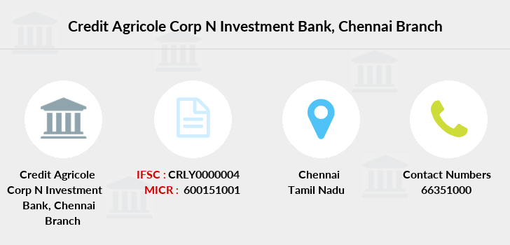 Credit-agricole-corp-n-invsmnt-bank Chennai branch