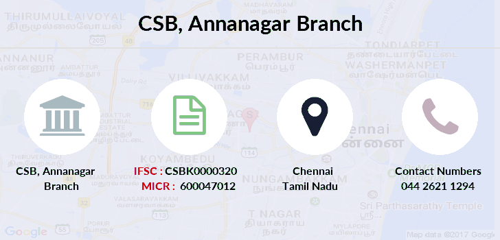 Catholic-syrian-bank Annanagar-chennai branch