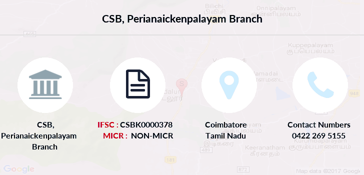 Catholic-syrian-bank Perianaickenpalayam branch