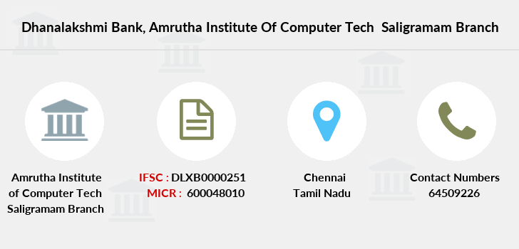 Dhanalakshmi-bank Amrutha-institute-of-computer-tech-saligramam branch