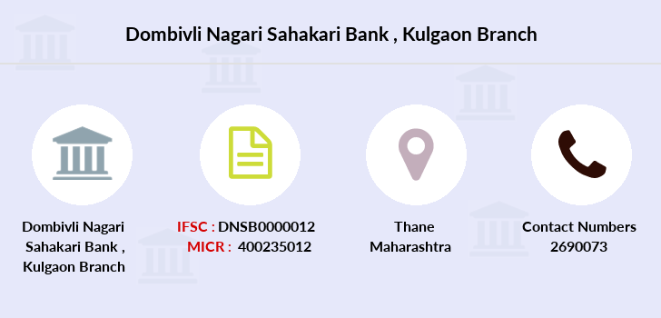 Dombivli-nagari-sahakari-bank Kulgaon branch