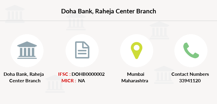 Doha-bank Raheja-center branch