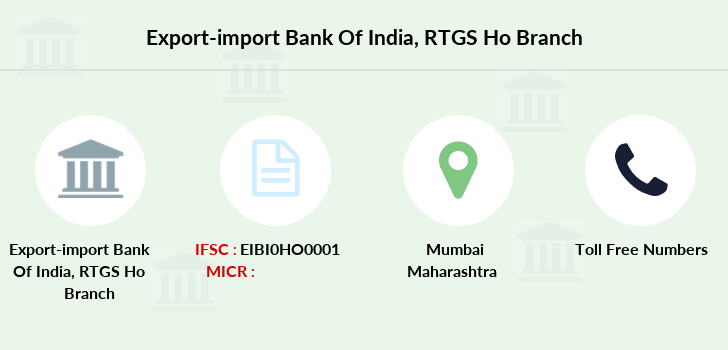 Export-import-bank-of-india Rtgs-ho branch