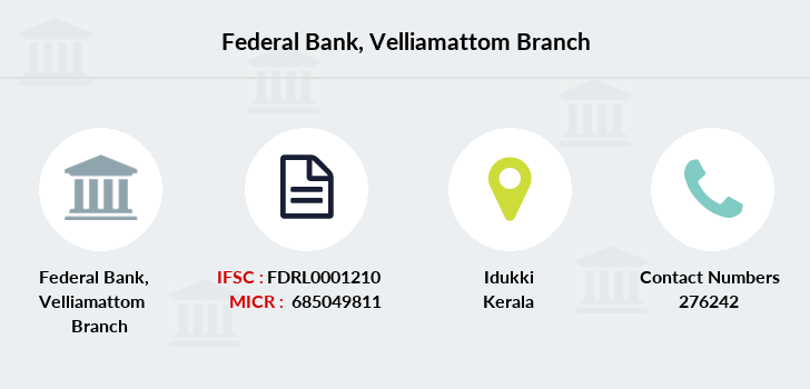 Federal-bank Velliamattom branch