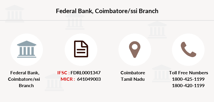Federal-bank Coimbatore-ssi branch