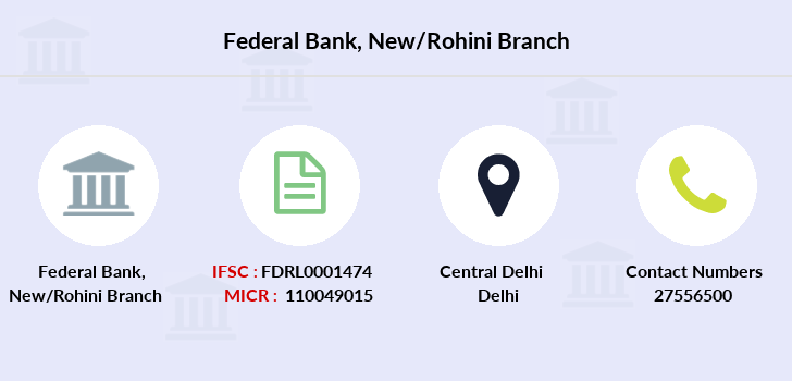 Federal-bank New-rohini branch