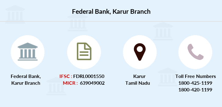 Federal-bank Karur branch