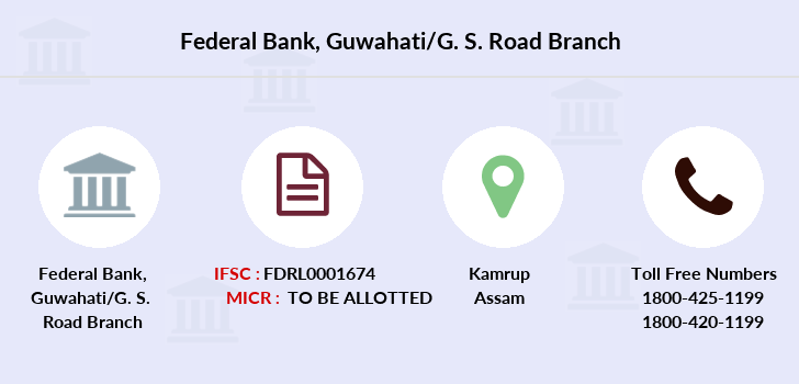 Federal-bank Guwahati-g-s-road branch