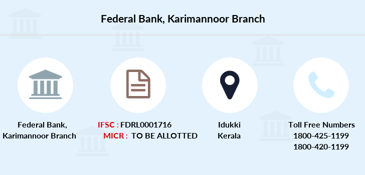 Federal-bank Karimannoor branch