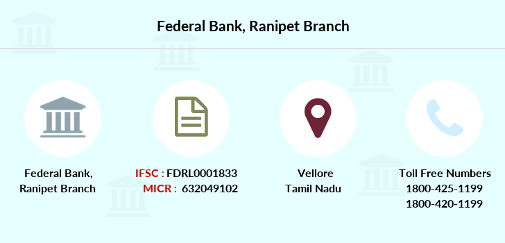 Federal-bank Ranipet branch