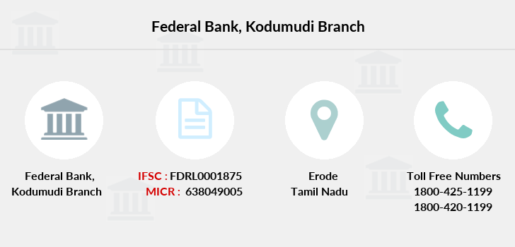 Federal-bank Kodumudi branch