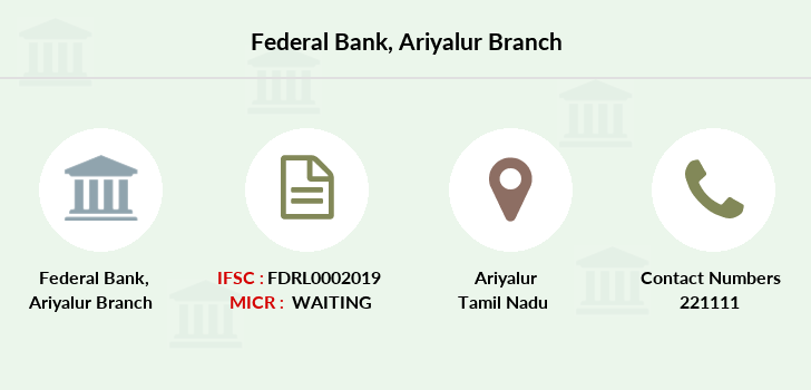 Federal-bank Ariyalur branch
