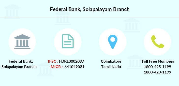 Federal-bank Solapalayam branch