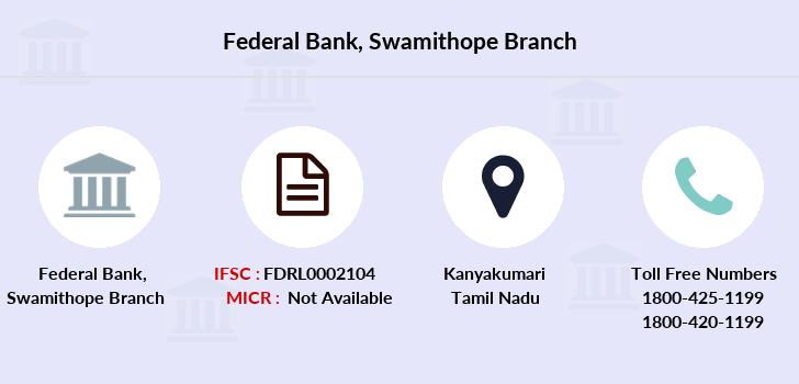 Federal-bank Swamithope branch