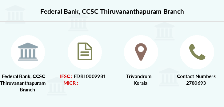 Federal-bank Ccsc-thiruvananthapuram branch