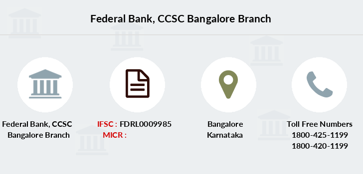 Federal-bank Ccsc-bangalore branch