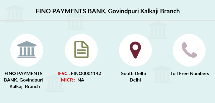 Fino-payments-bank Govindpuri-kalkaji branch