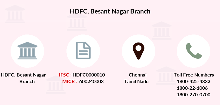 Hdfc-bank Besant-nagar branch