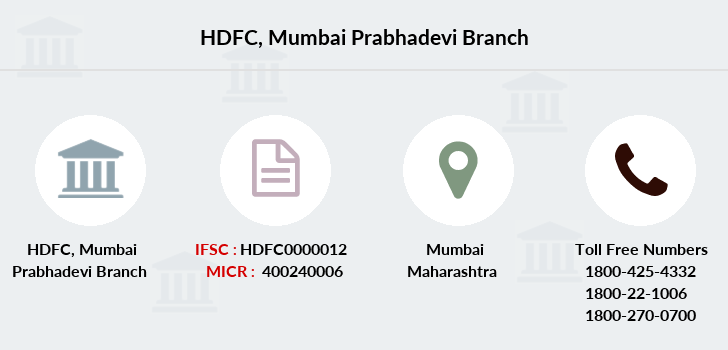 Hdfc-bank Mumbai-prabhadevi branch