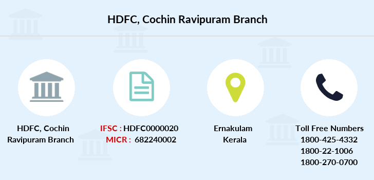 Hdfc-bank Cochin-ravipuram branch