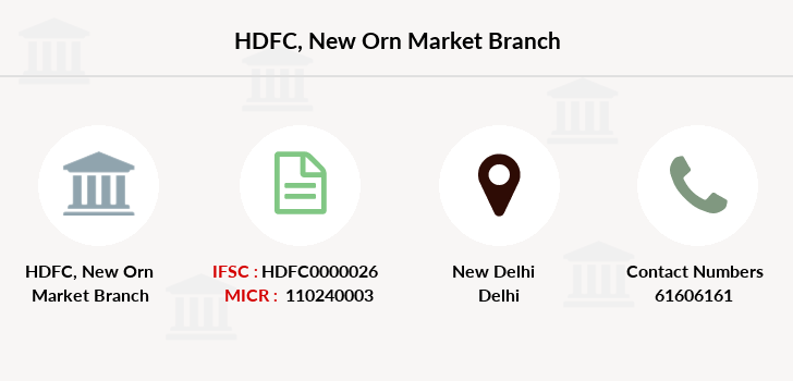 Hdfc-bank New-orn-market branch