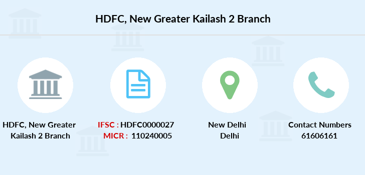 Hdfc-bank New-greater-kailash-2 branch