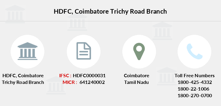 Hdfc-bank Coimbatore-trichy-road branch