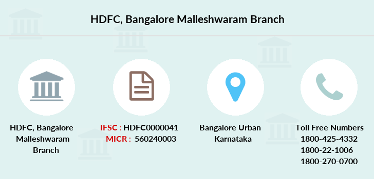 Hdfc-bank Bangalore-malleshwaram branch