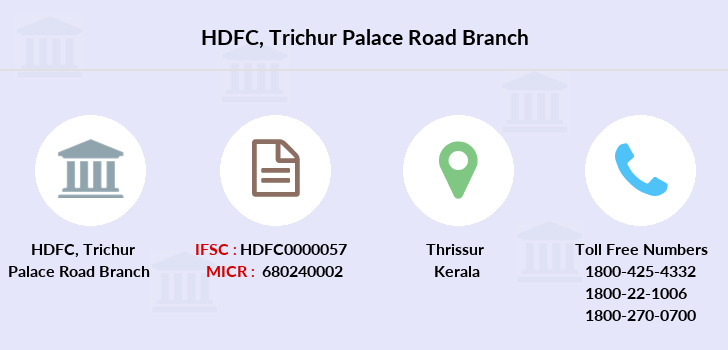 Hdfc-bank Trichur-palace-road branch