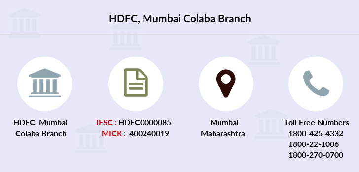 Hdfc-bank Mumbai-colaba branch