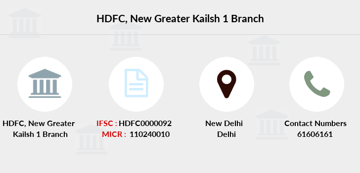 Hdfc-bank New-greater-kailsh-1 branch