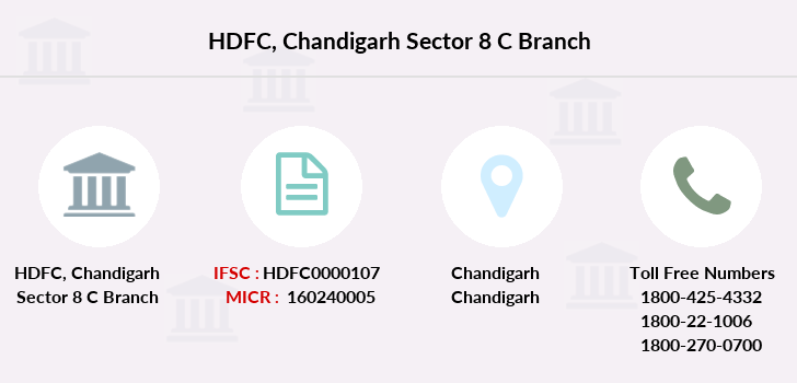 Hdfc-bank Chandigarh-sector-8-c branch