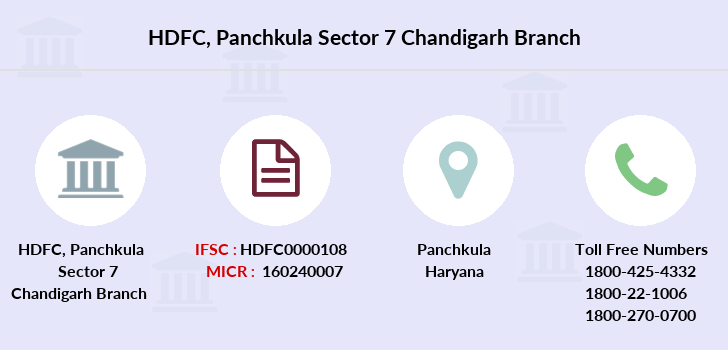 Hdfc-bank Panchkula-sector-7-chandigarh branch