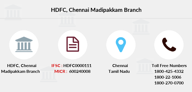 Hdfc-bank Chennai-madipakkam branch