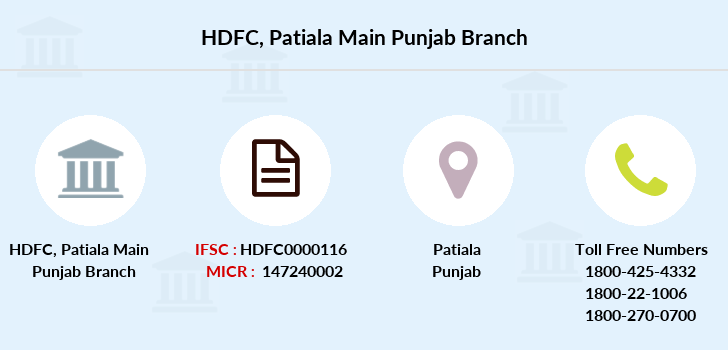 Hdfc-bank Patiala-main-punjab branch
