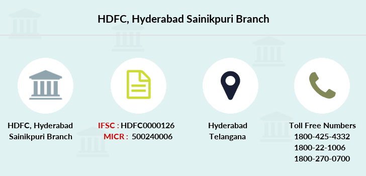 Hdfc-bank Hyderabad-sainikpuri branch