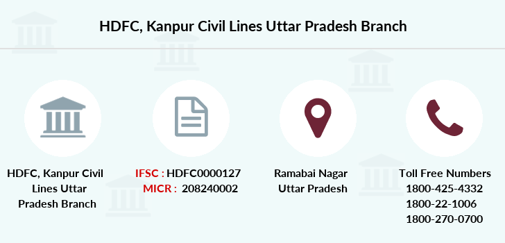 Hdfc-bank Kanpur-civil-lines-uttar-pradesh branch