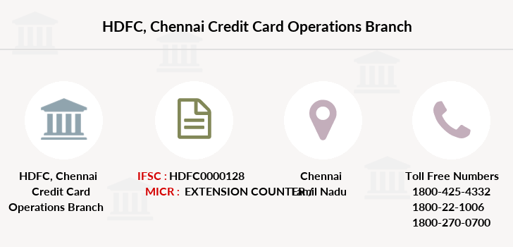 Hdfc-bank Chennai-credit-card-operations branch