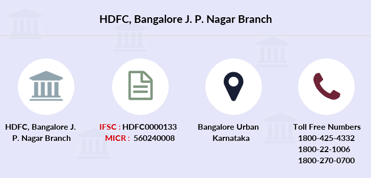 Hdfc-bank Bangalore-j-p-nagar branch