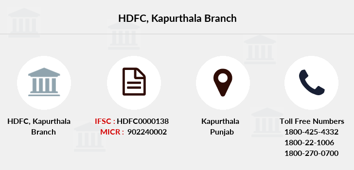 Hdfc-bank Kapurthala branch